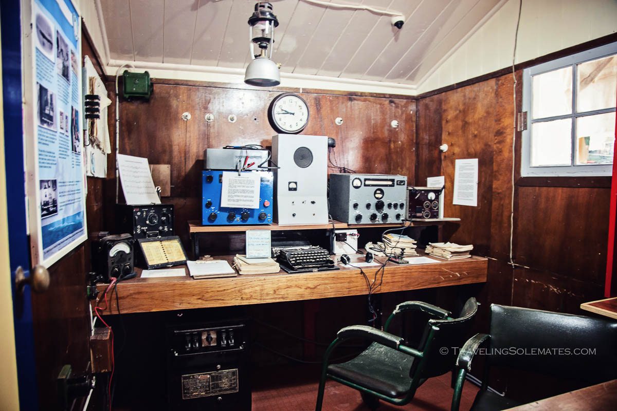 Radio Room in Bransfield House Museum, Port Lockroy, Britishh Base A, Antarctica., Natioanal Geographic Expeditions, Lindblad Expeditions.
