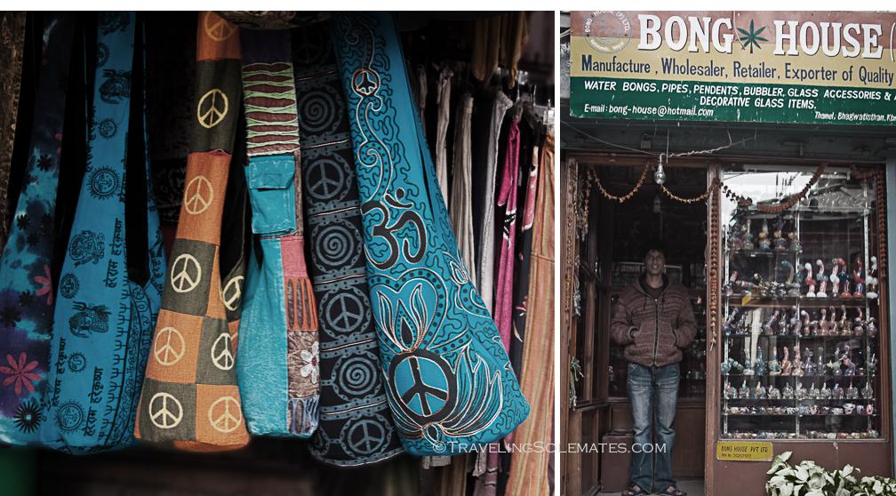 Stores in Thamel Street, Kathmandu, Nepal