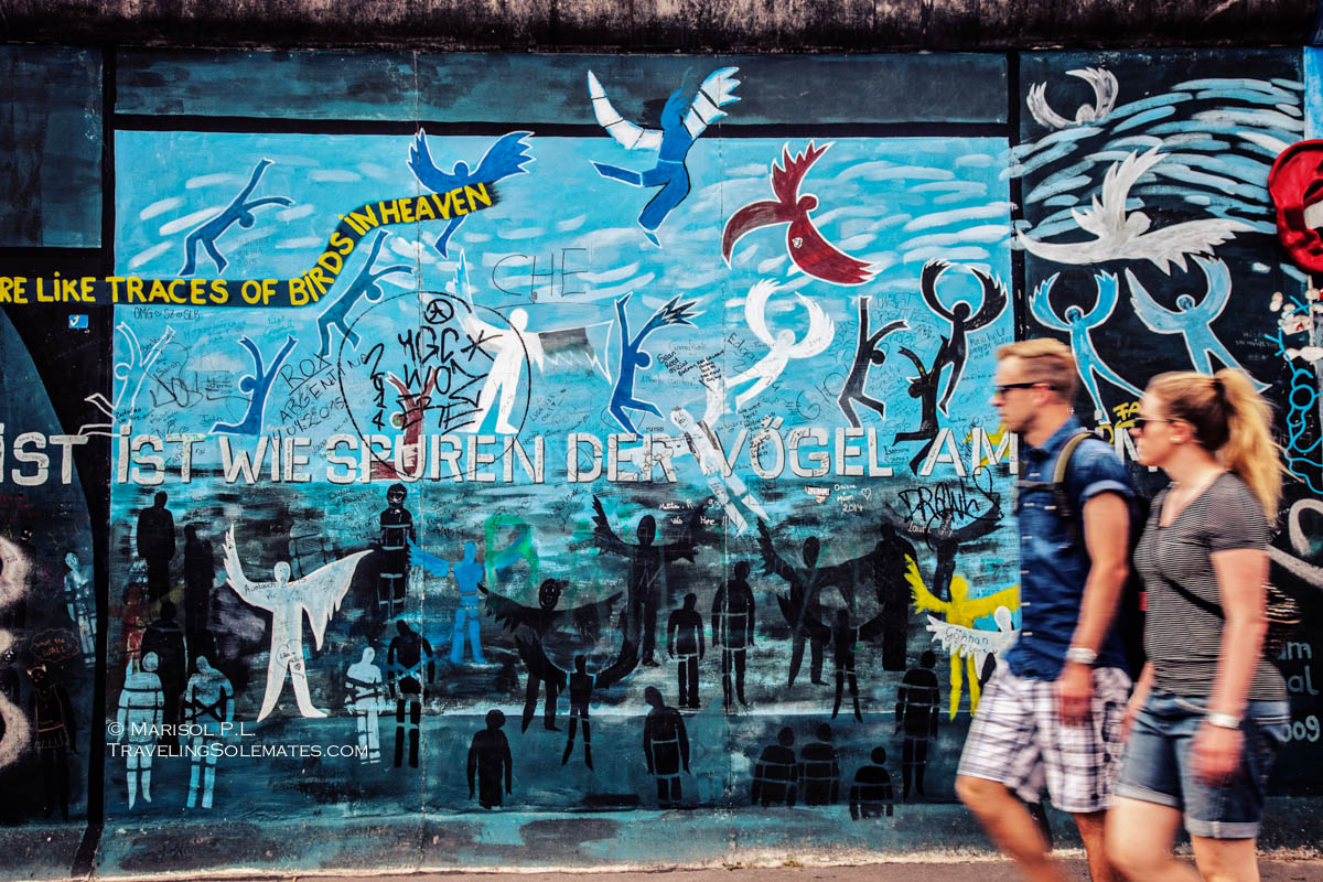 Murals on Berlin Wall's East Side Gallery