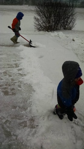We makes sure our hosts stay happy by putting the kids to work shoveling their drive way. :) j/k The kids were having a blast