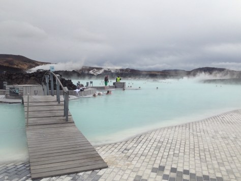 Inside the Blue Lagoon in Iceland