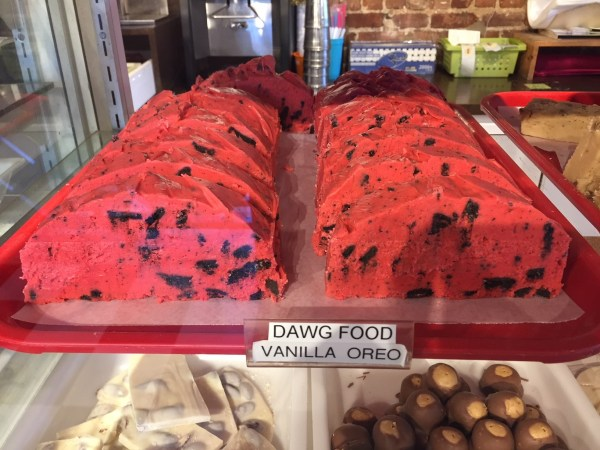 Georgia Bulldog-themed fudge at Fantastic Fudge in downtown Fernandina Beach.