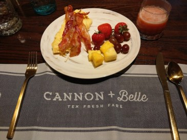 Breakfast at Cannon + Belle.