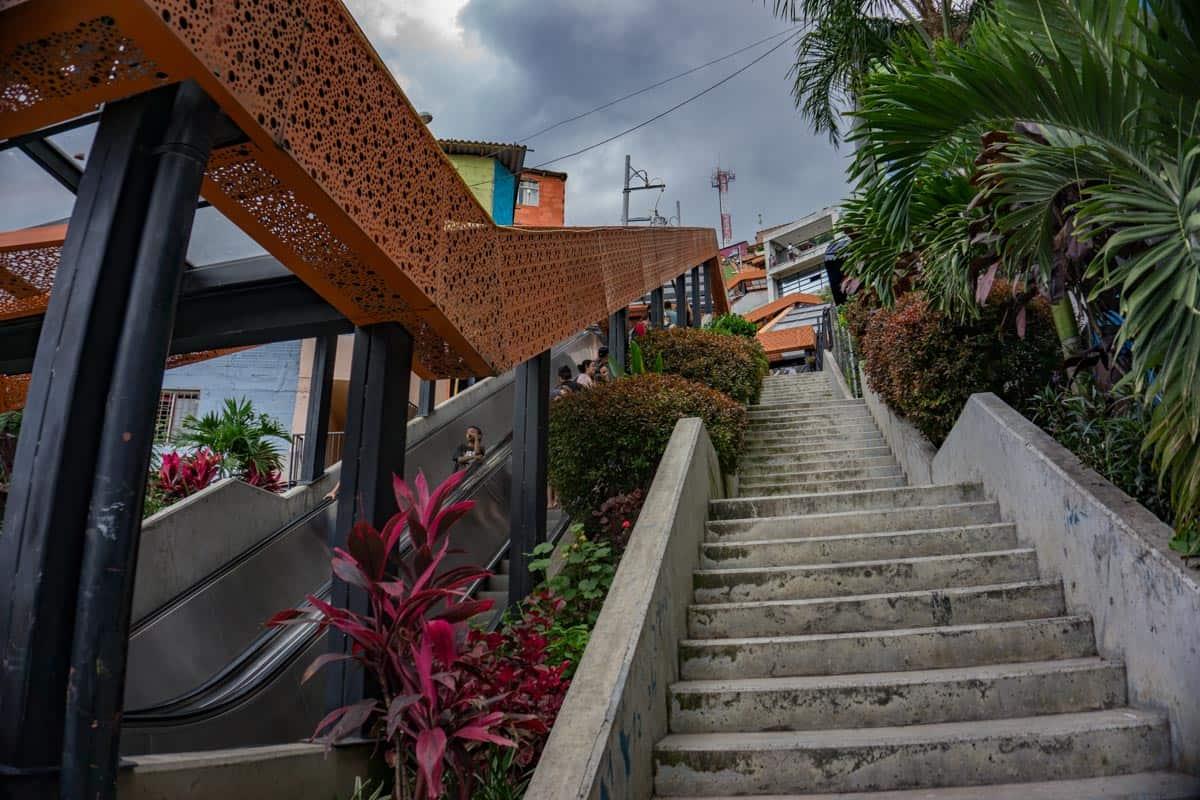Escalator in Comuna 13, Medellín