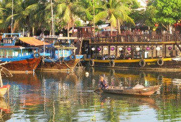 The river in Hoi An Ancient Town