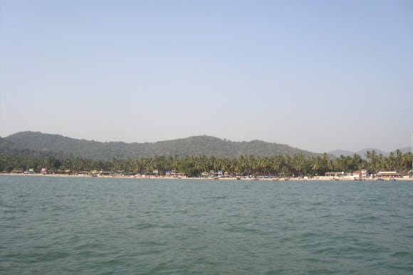 Palolem Beach - View from the boat (Places to visit in Goa)