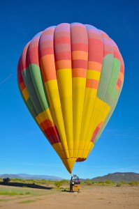 Float over the desert in one of Hot Air Excursions balloons.