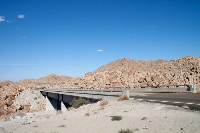 Wüstenlandschaft auf der Fahrt von San Diego nach Slab City