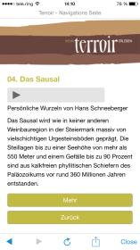 Schauplatz-Beschreibung mit Audio-Informationen von Hans Schneeberger über das Sausal