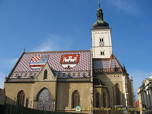 The unusual Church of St Mark, Zagreb, Croatia