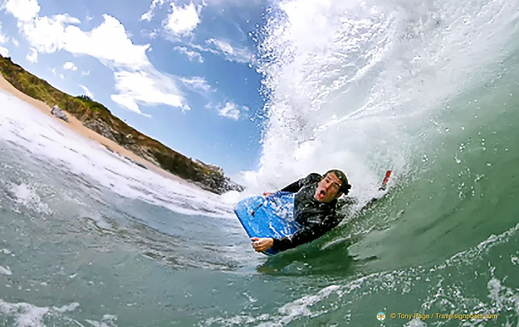 Surfing and diving in Cornwall