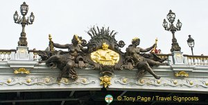 Ornate  bridge decorations