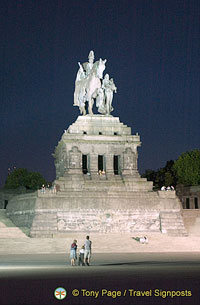 Kaiser Wilhelm monument at Koblenz
