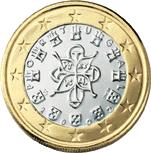 1 euro coin (back)