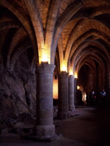 Chamber below Chillon Castle