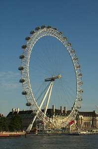 London's giant bicycle wheel