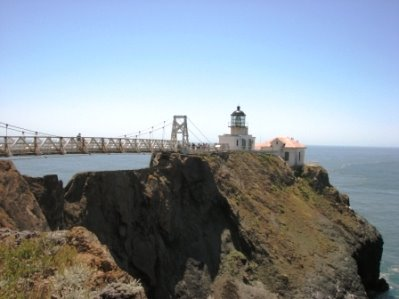Just off the northern end of the Golden Gate Bridge, the lovely Point Bonita Lighthouse awaits.