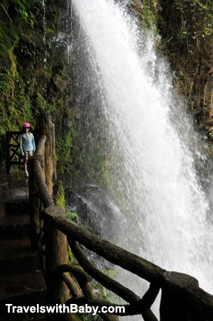 One of five waterfalls at La Paz Waterfall Gardens and Nature Park in Costa Rica