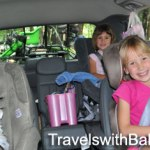 Rivoli family travelers road-tripping in the family van