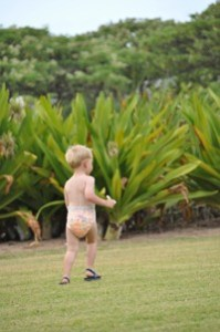 Toddler on the move in Kauai