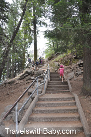 Stairs at beginning of Moro Rock trail