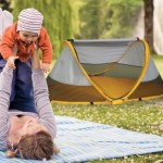 "This handy travel bed packs flat, pops up for snoozes in the great outdoors, and helps create a warmer ""tent within your tent"" as described in Travels with Baby. See more helpful items in the Amazon Quick List."