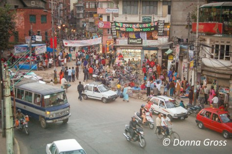 Intersection near Old Tibet Road, Kathmandu, Nepal