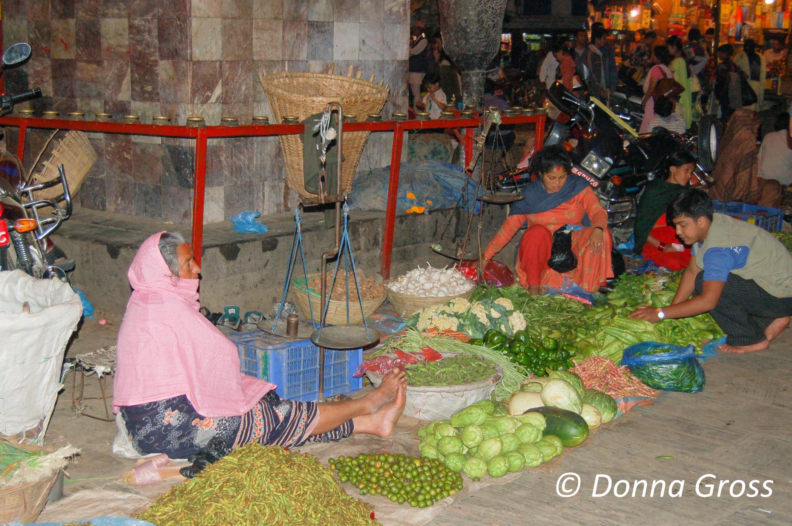 Vegetables for sale, Old Tibet Road, Kathmandu