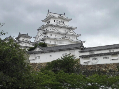 Closer to Himeji Castle