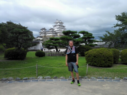 In front of Himeji Castle
