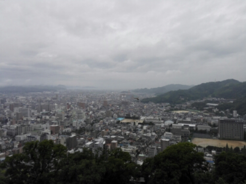 View of Matsuyama from the castle