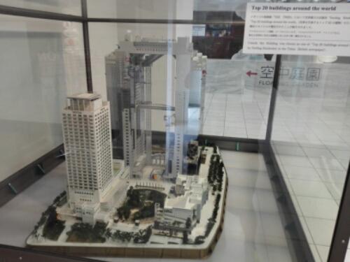 Umeda Sky Building in miniature
