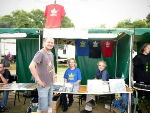 Our merch stand at Crescendo Prog Festival