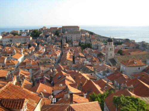 View of the old city of Dubrovnik