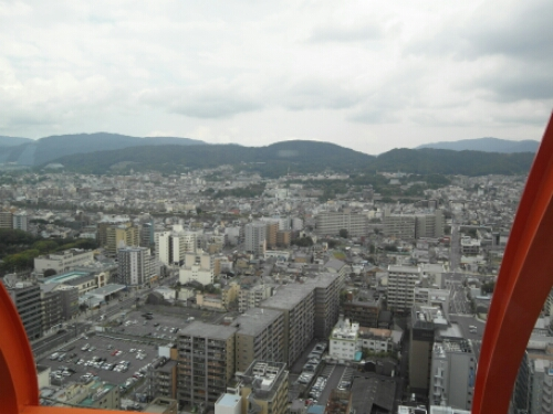 View of Kyoto from Kyoto Tower