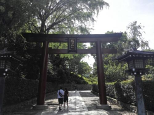 Torii gate at Nezu Shrine