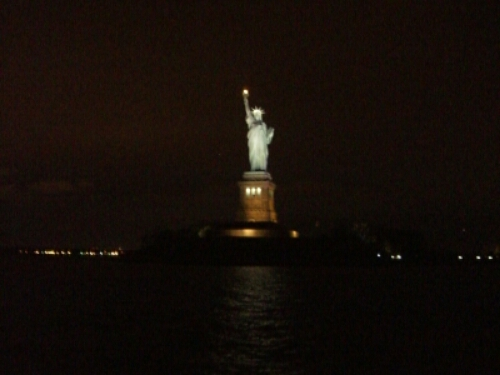 Statue of Liberty seen from Hudson River