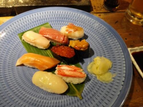 A plate of Otaru sushi
