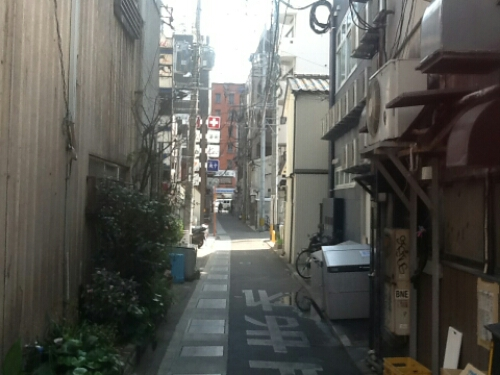 Narrow streets in Fukuoka