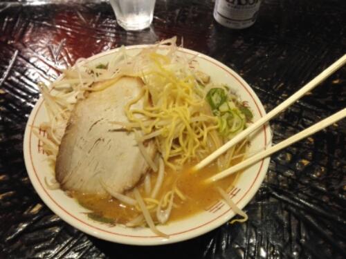 Miso ramen in Sapporo
