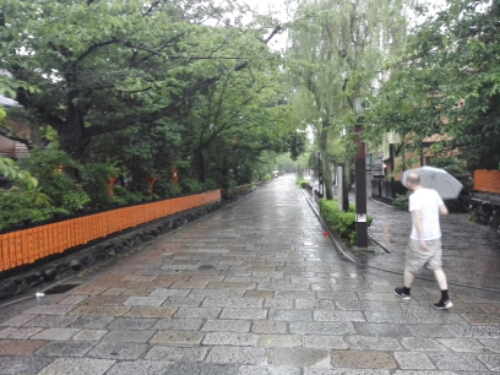 Kyoto during a typhoon