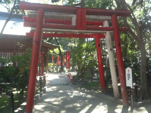 Torii gate at Sumiyoshi Shrine