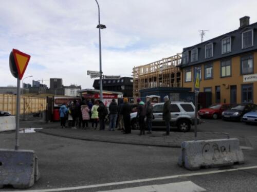 Bajarins beztu pylsur, a hot dog stand in Reykjavik