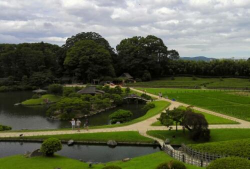 Virw of Koraku Park from the hill