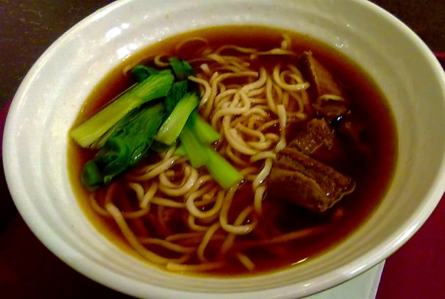 Beef noodles in Taiwan