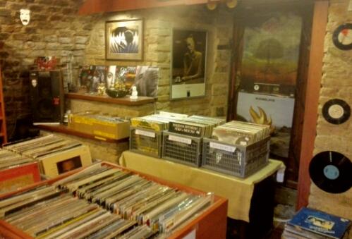 Vinyl store in Vilnius