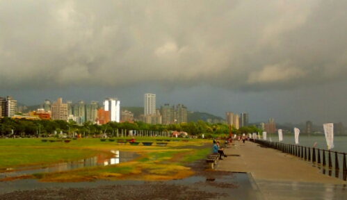 View of Tamsui from a riverside park