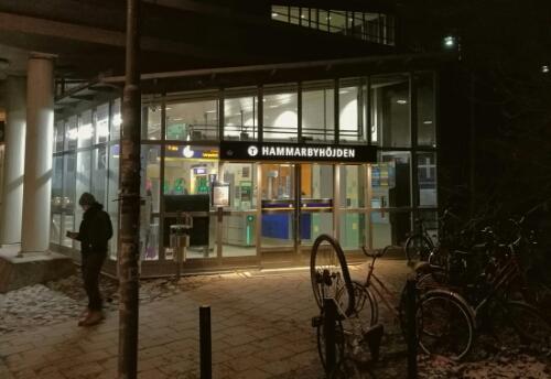 Hammarbyhöjden Metro Station