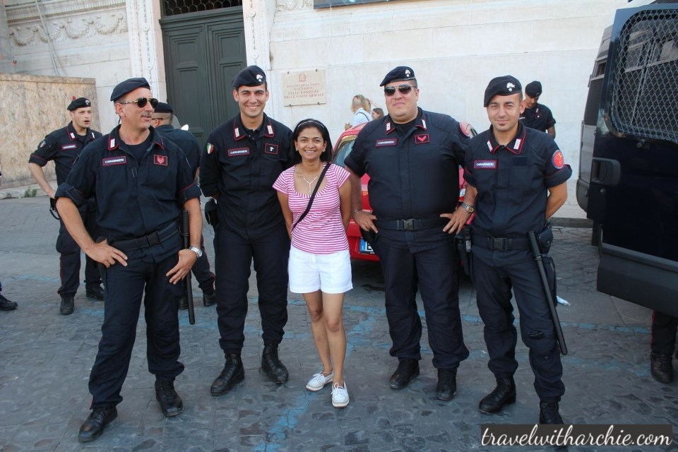 With Italian Military in Rome
