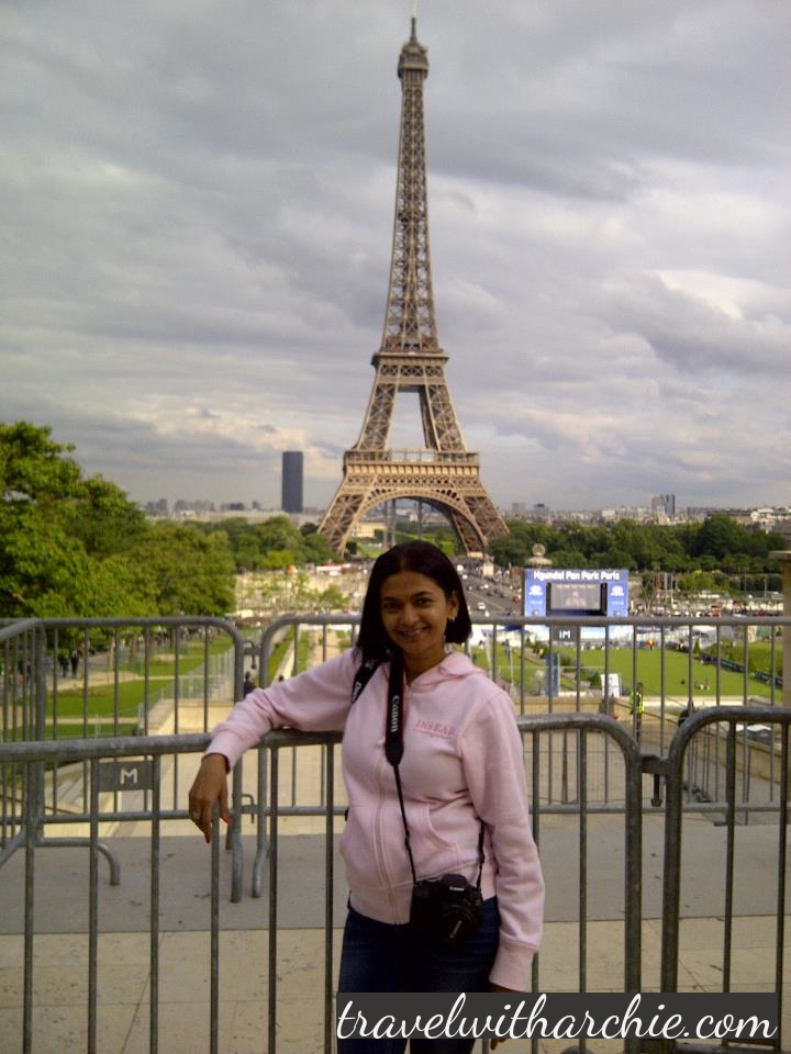 With my amazing friend - The Eiffel Tower